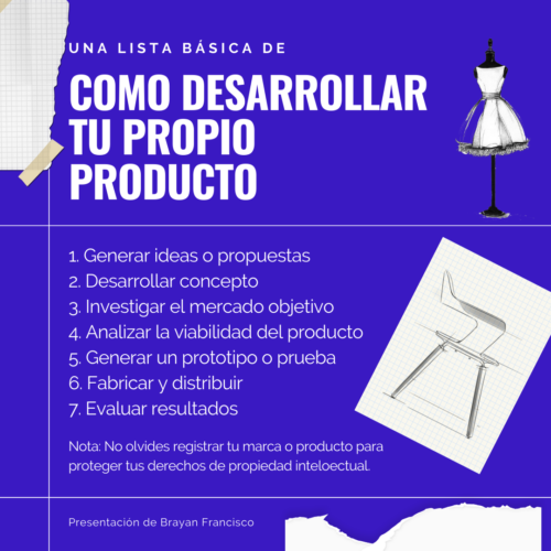 Como desarrollar tu propio producto