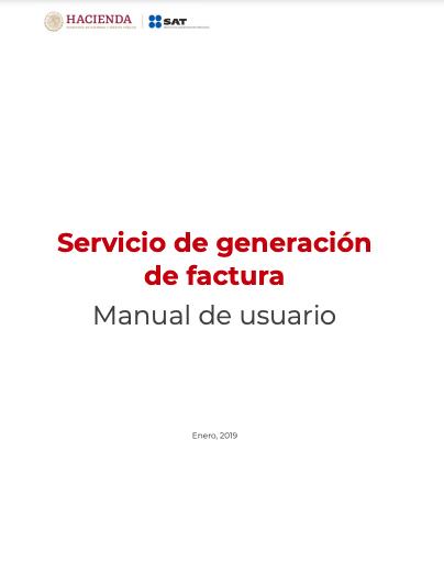 Manual del usuario facturación