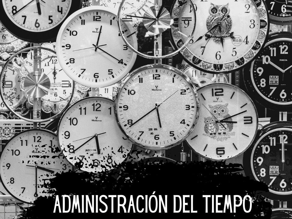 Portada administración del tiempo